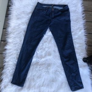 Dark denied skinny low-rise Forever 21 jeans